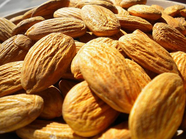 almonds, nuts, healthy fats