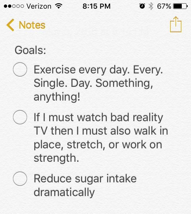 health goals, goals, fitness goals, get healthy