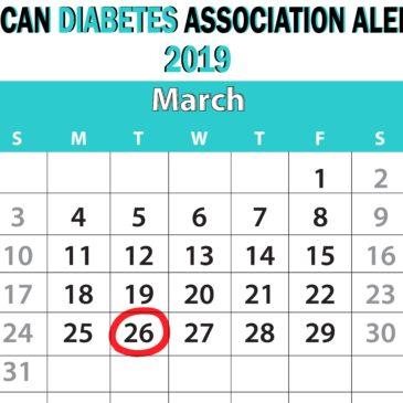 Today is American Diabetes Alert Day!